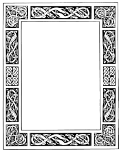 Free Celtic frames and borders for your Book of Shadows