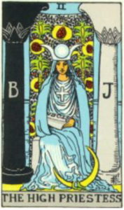 High Priestess Tarot Card from the free printable deck